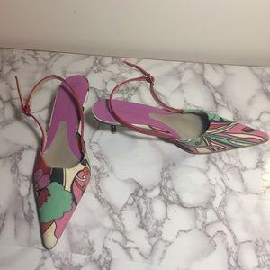 BCBGirls pointed toe slingback kitten heels